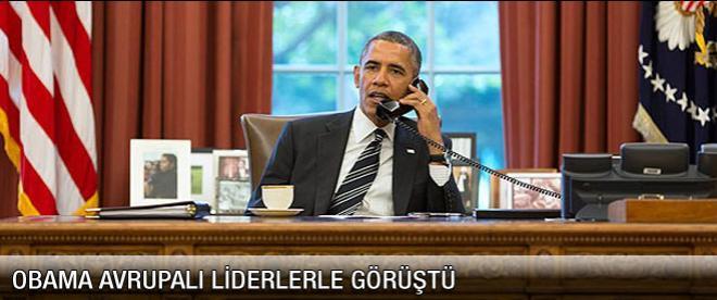 Obama Avrupalı liderlerle Ukrayna'yı görüştü