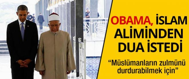 Obama İslam aliminden dua istedi!