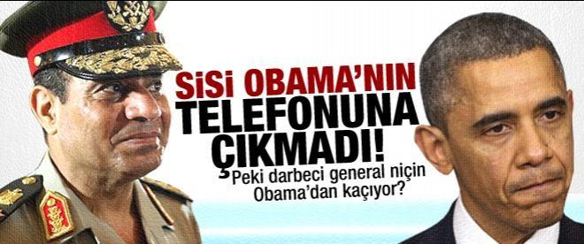 Obama çekil der diye Sisi telefona çıkmadı