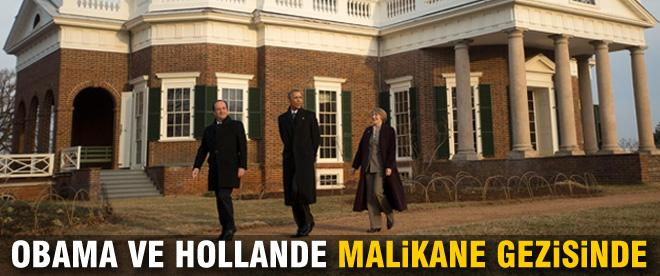 Obama ve Hollande malikane gezisinde