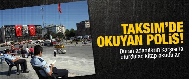Taksim'de okuyan polis