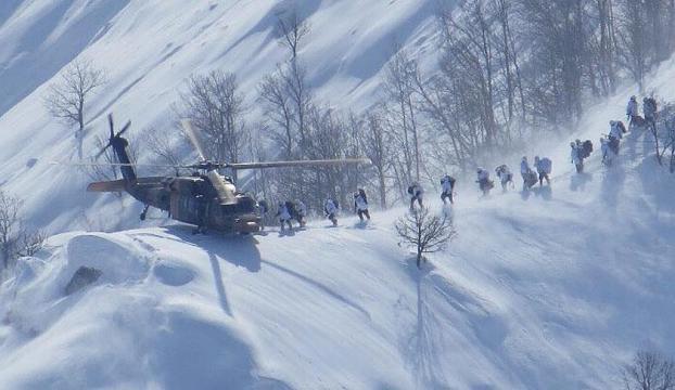 Yüksekova kırsalına hava harekatında 4 terörist öldürüldü