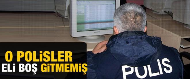 O polislerden derin hırsızlık