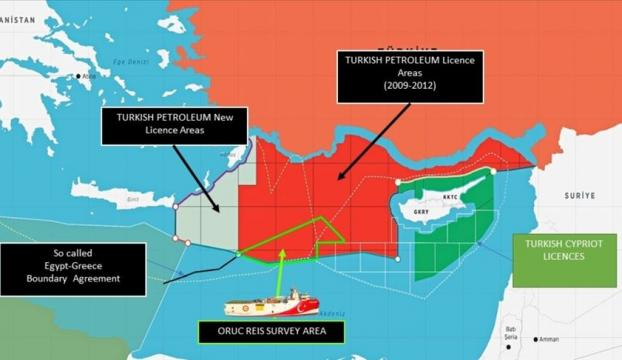 Dışişleri Bakanlığı, Oruç Reisin faaliyet sahasını gösteren haritayı paylaştı