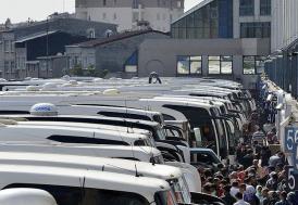 Otogarlarda yolcu haraketliliği
