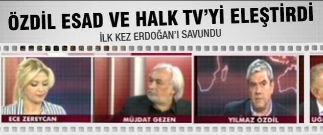 Özdil'den Halk TV'ye Esed eleştirisi