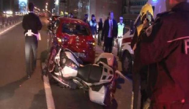 Cumhurbaşkanı eskortu kaza yaptı