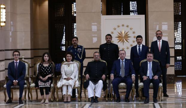 Erdoğan, Pakistanın Ankara Büyükelçisi Gaziyi kabul etti