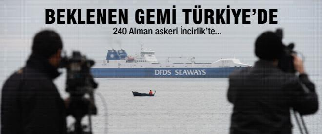 Beklenen gemi Türkiye'de...