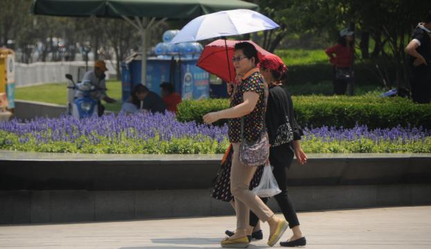 Çinde yılın ilk sıcak hava alarmı