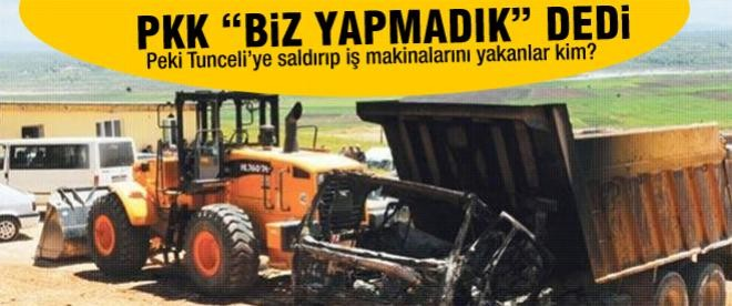 PKK: Tunceli'deki saldırıları biz yapmadık!