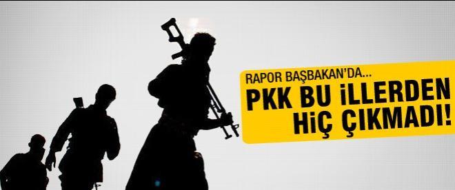 PKK'nın hiç geri çekilmediği 6 il!