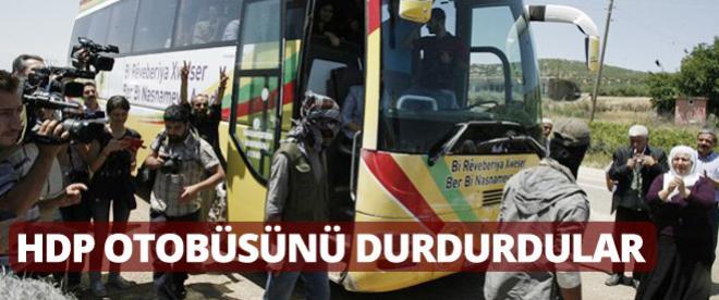 PKK, HDP otobüsünü durdurdu