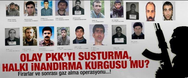 PKK'lıların firarı tezgah mı?