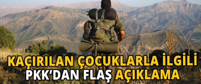PKK'dan flaş açıklama