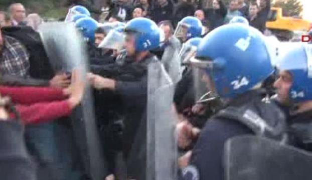 Validebağdaki eyleme polis müdahalesi!