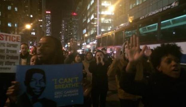 Polis şiddeti protestoları New Yorka yayıldı