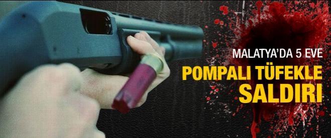 Malatya'da 5 eve pompalı tüfekle saldırı: 3 ölü