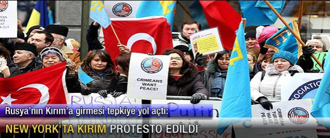 New York'ta Kırım protestosu