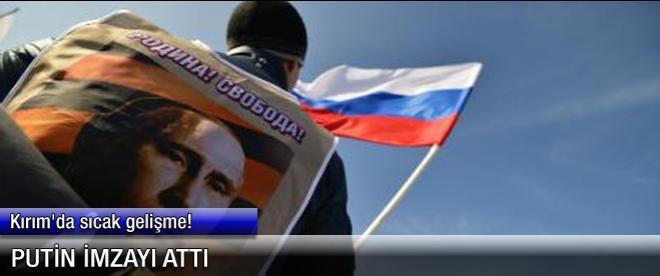Putin imzayı attı