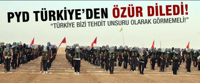 PYD Türkiye'den özür diledi!