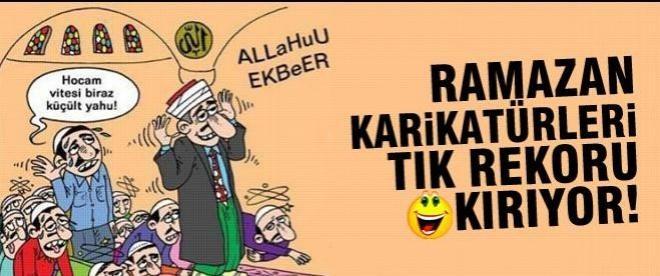 Ramazan karikatürleri tık rekoru kırıyor