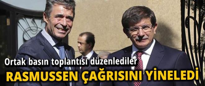 Rasmussen ve Davutoğlu ortak basın toplantısı yaptı
