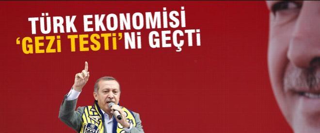 Türkiye ekonomisi 'Gezi' testini geçti