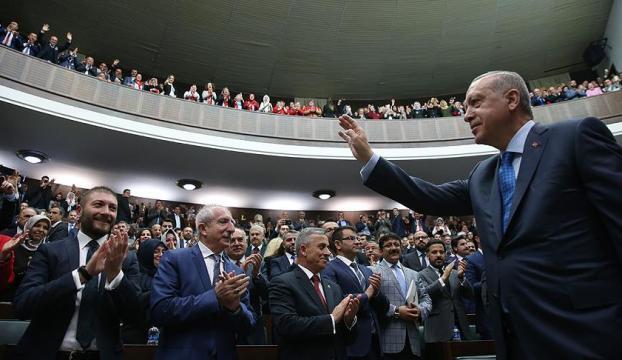 AK Parti Grubunun Cumhurbaşkanı adayı Erdoğan