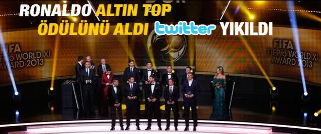 Ronaldo Altın Top'u aldı twitter yıkıldı