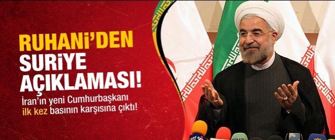 Ruhani'den ilk Suriye açıklaması
