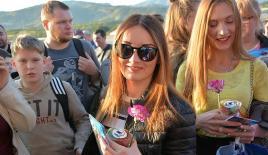 "Rus turistler ""charter"" ile Alanya'ya geldi"