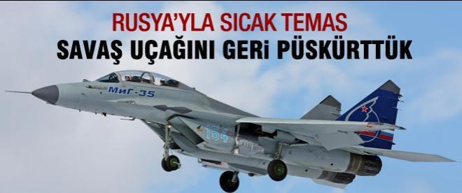 Genelkurmay'dan Rus uçağına engelleme