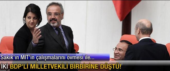 İki BDP'li milletvekili birbirine düştü!