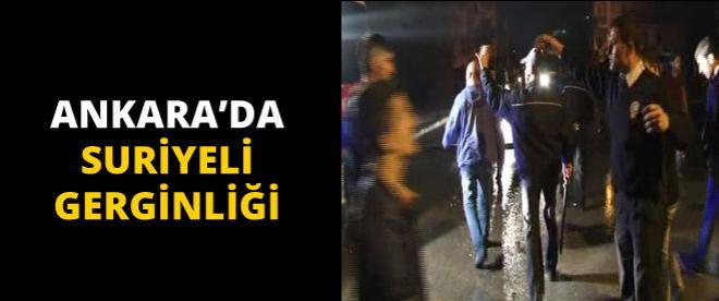 Ankara'da Suriyeli gerginliği çıktı!