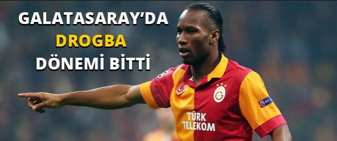 Galatasaray'da Drogba dönemi bitti!