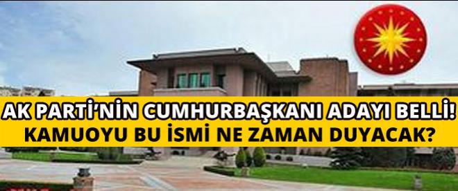 Bülent Arınç: ''AK Parti Köşk için kararını verdi''