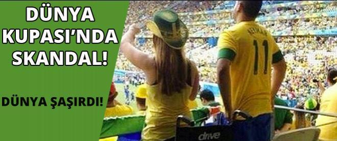 Dünya Kupası'nda skandal görüntü!