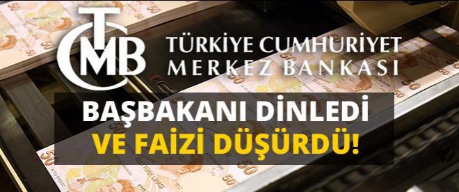 Başbakan Erdoğan'ı dinledi faizi indirdi!