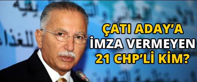 CHP'de 21 milletvekili İhsanoğlu için imza atmadı!