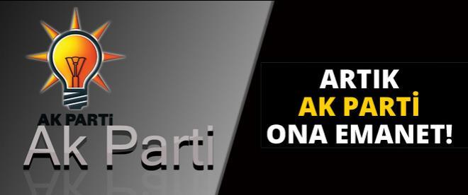AK Parti, Mehmet Ali Şahin'e emanet!