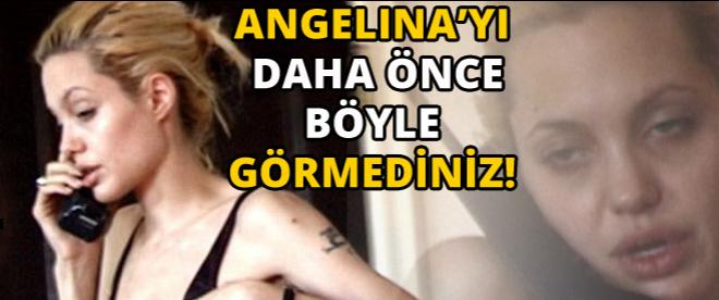 Angelina Jolie'yi hiç böyle görmediniz!