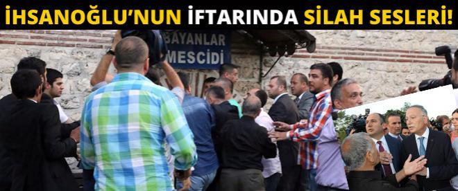 Silah patladı! ''Çatı aday'' İhsanoğlu iftarını yapamadı!