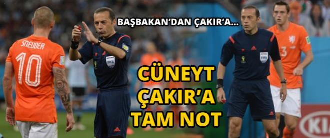 Başbakan'dan Cüneyt Çakır'a...
