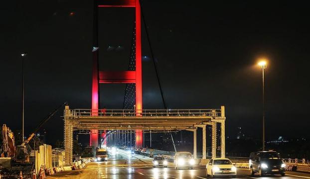15 Temmuz Şehitler Köprüsünde serbest geçiş başladı
