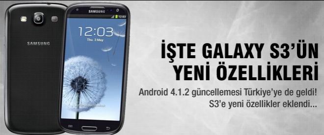 Galaxy S3 için Android 4.1.2 Türkiye'de!