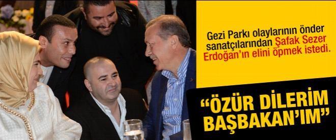 """Şafak Sezer: """"Özür dilerim Başbakanım"""""""