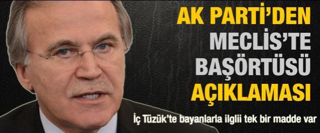 Mehmet Ali Şahin'den başörtü açıklaması