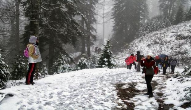 Samanlı Dağında yılın ilk karı