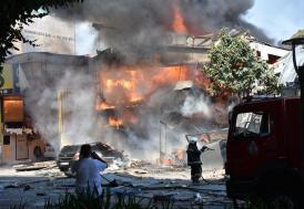 Samsun'da sanayi sitesinde büyük patlama